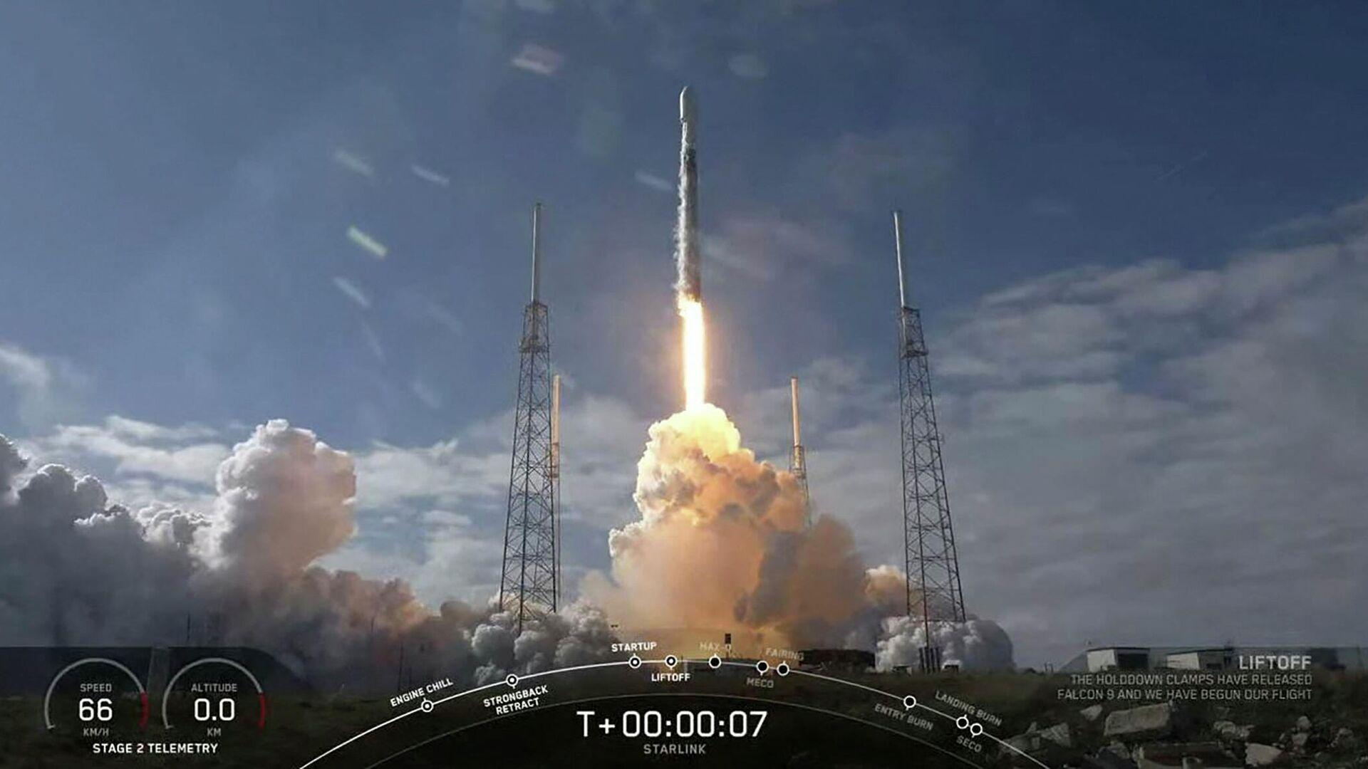 SpaceX schießt 60 Starlink-Satelliten ins All (Archivbild) - SNA, 1920, 09.05.2021