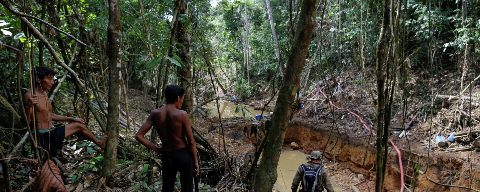 Indigene des Volkes Yanomami im Amazonas-Regenwald im Brasilianischen BUndesstaat Roraima (Archivbild) - SNA, 1920, 26.05.2021
