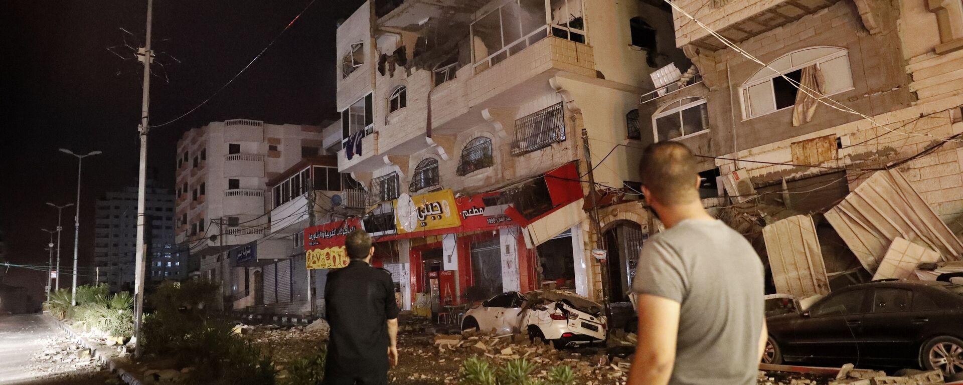 Die Auswirkungen der Luftangriffe in Israel und Gaza  - SNA, 1920, 13.07.2021