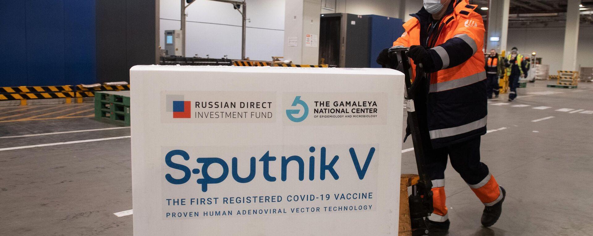"""Die Lieferung vom Corona-Impfstoff """"Sputnik V""""  - SNA, 1920, 19.10.2021"""