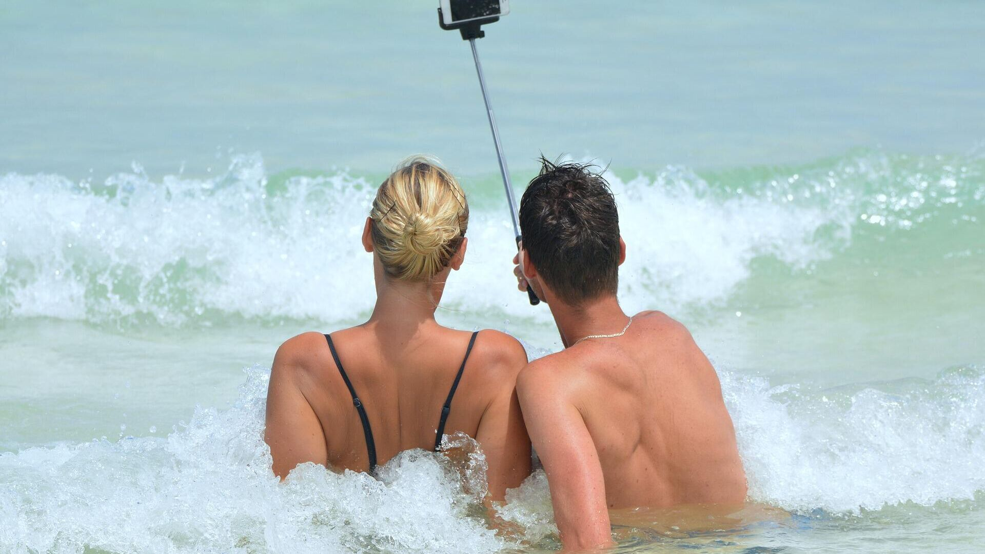 Selfie am Meer (Symbolbild) - SNA, 1920, 16.07.2021
