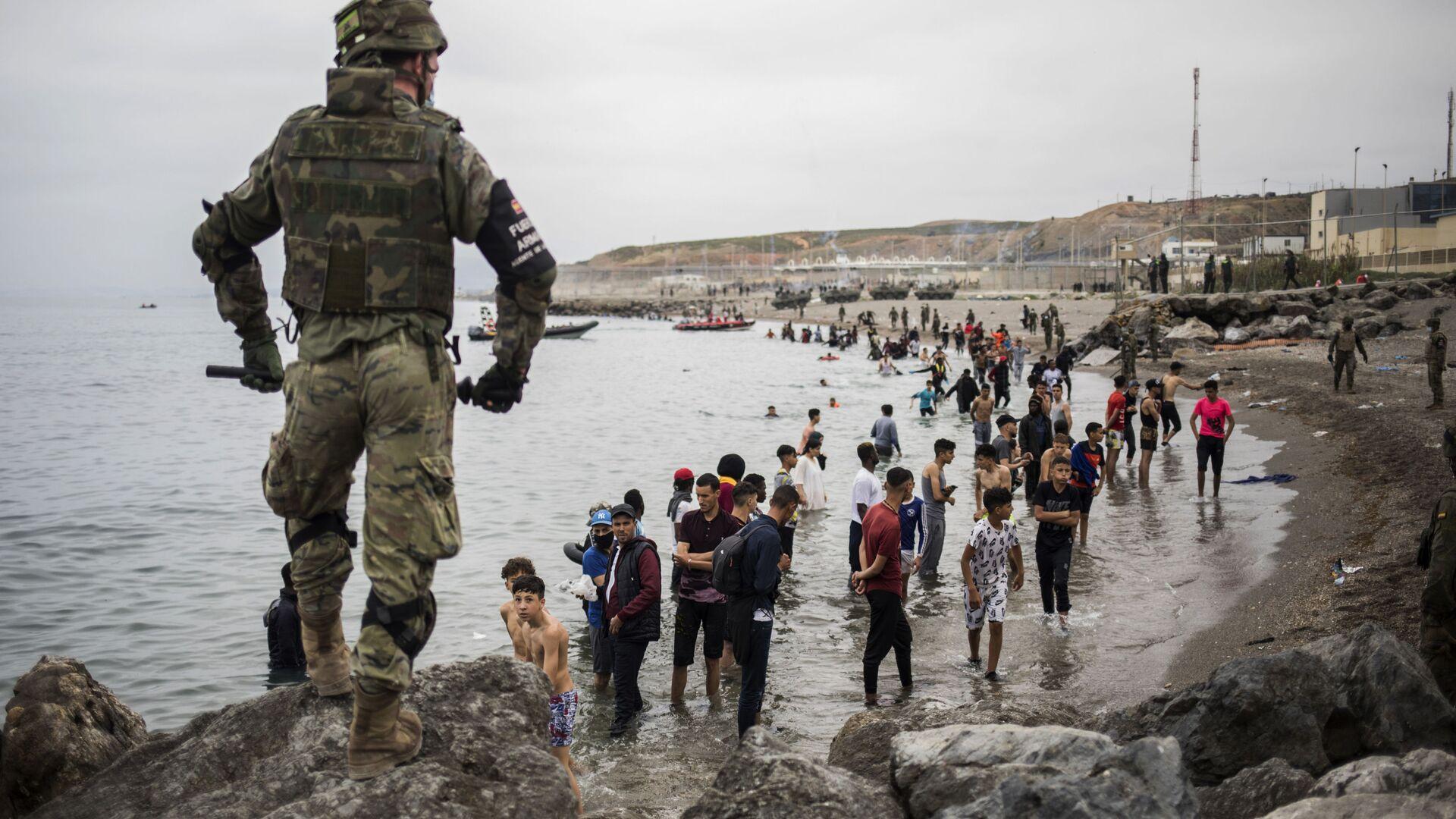 Ceuta: Flüchtlinge strömen nach Spanien - SNA, 1920, 28.07.2021