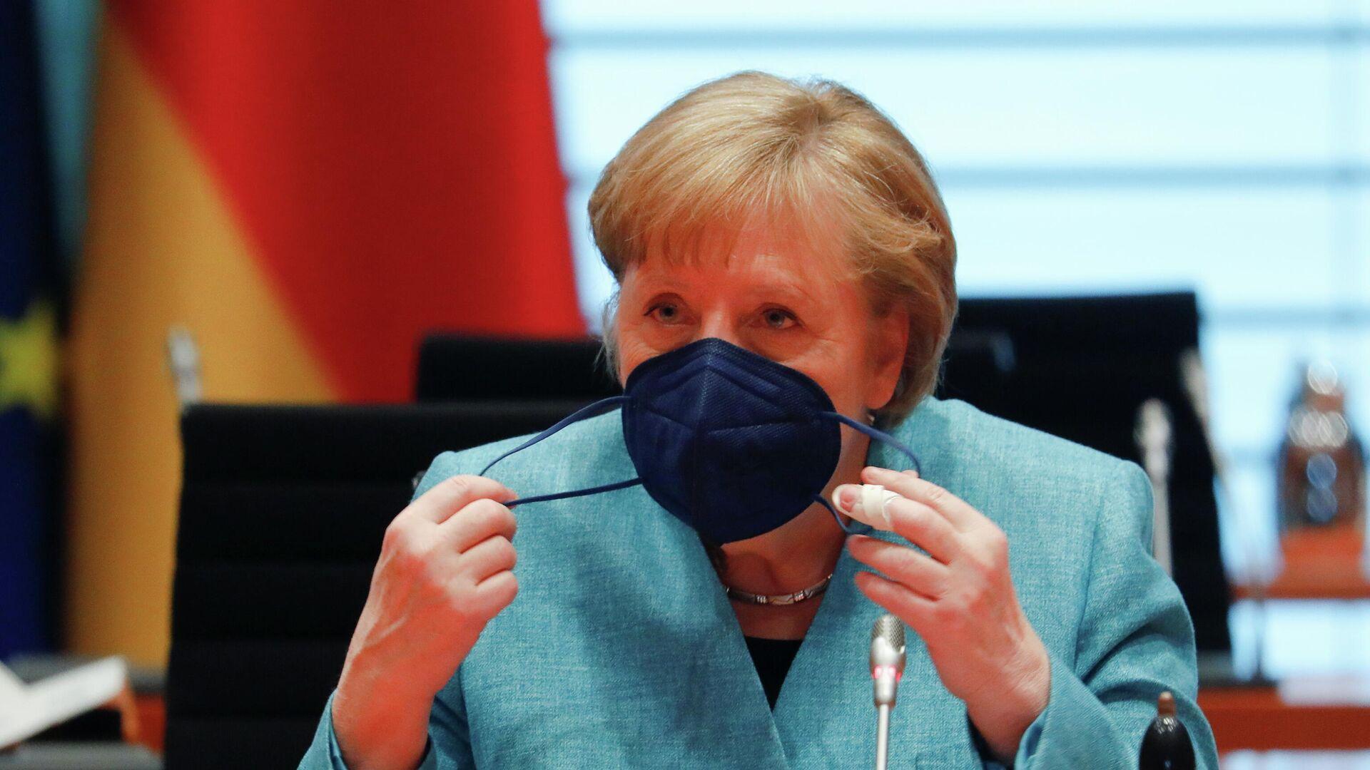 Bundeskanzlerin Angela Merkel - SNA, 1920, 04.06.2021