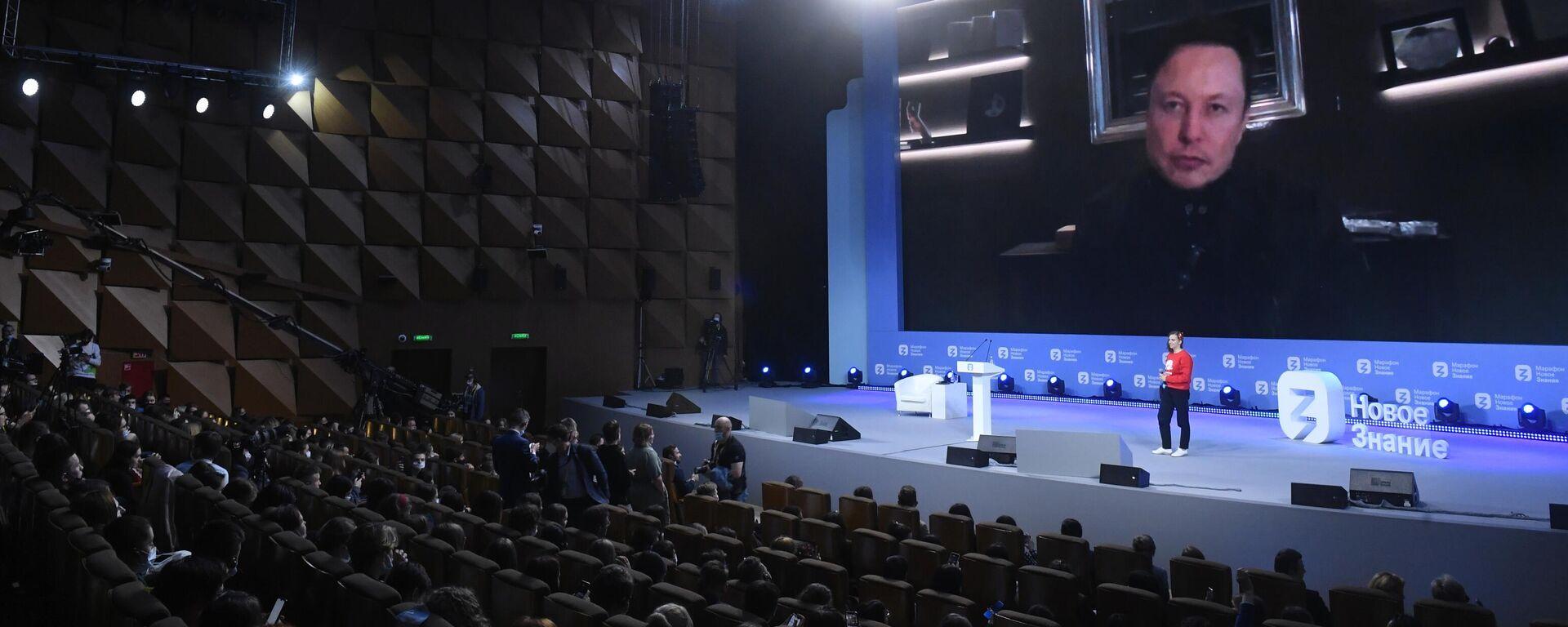 """Elon Musk spricht beim """"New Knowledge""""-Marathon in Russland über die Zukunft in 50 Jahren - SNA, 1920, 21.05.2021"""