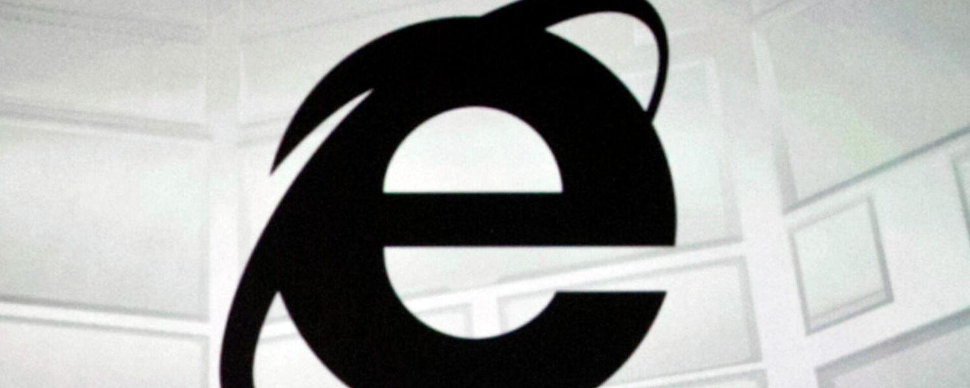 Logo des weltberühmten Browsers Internet Explorer (Archiv) - SNA, 1920, 21.05.2021