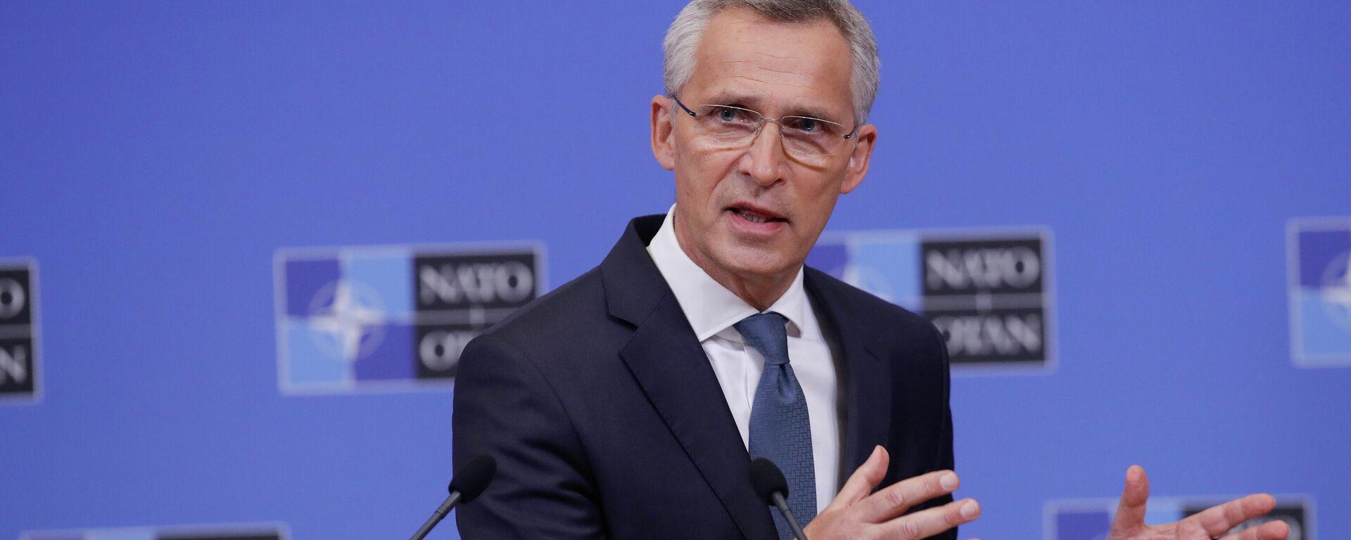 NATO-Generalsekretär Jens Stoltenberg vor der Presse. Brüssel, 31. Mai 2021 - SNA, 1920, 31.05.2021