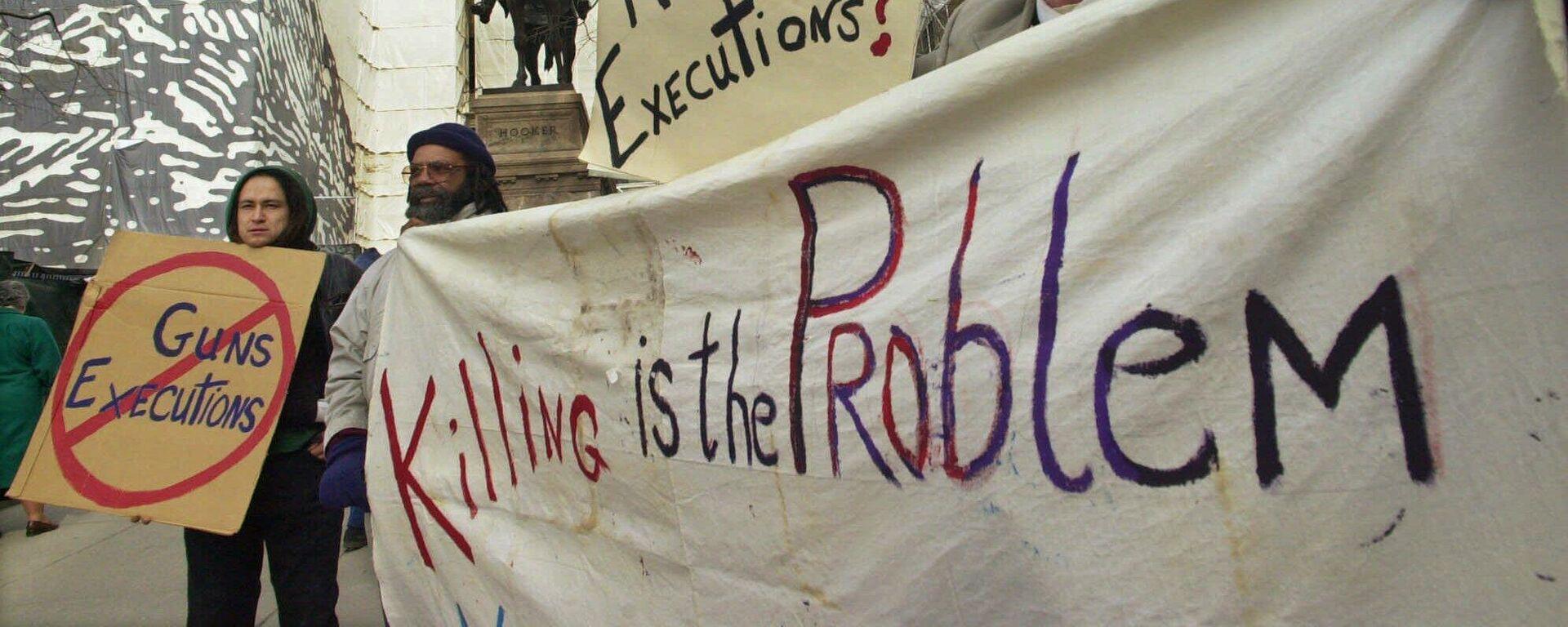 Killing is the Problem - Proteste gegen die Todesstrafe in den USA (Symbolbild) - SNA, 1920, 01.06.2021