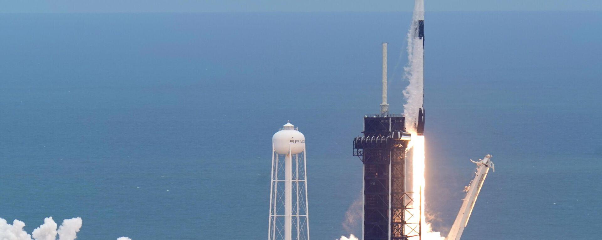 Start einer Falcon-9-Trägerrakete mit einem Dragon-Raumfrachter zur Internationalen Raumstation ISS. Cape Canaveral, US-Bundesstaat Florida, 3. Juni 2021 - SNA, 1920, 29.08.2021