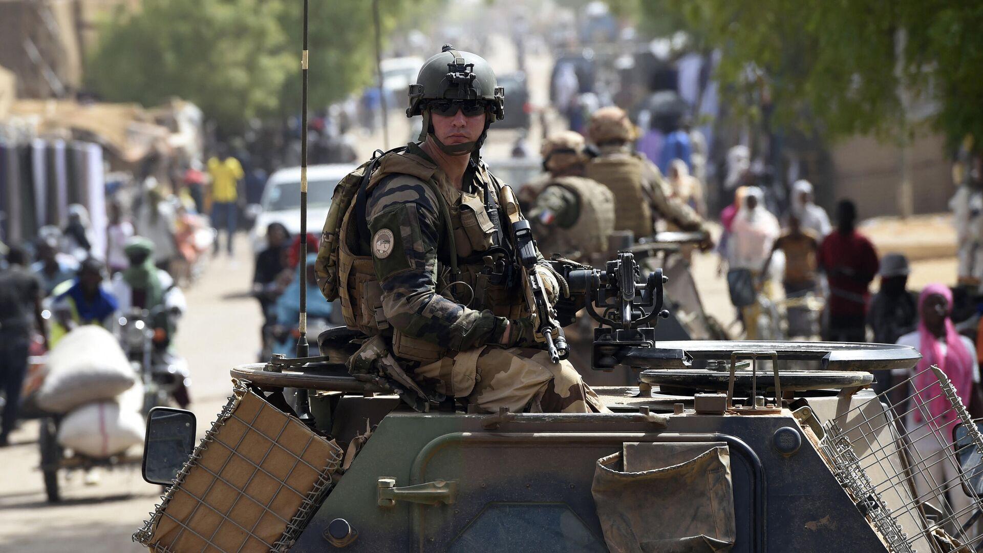 """Französische Soldaten der Anti-Terror-Operation """"Barkhane in Mali (Archivbild) - SNA, 1920, 04.06.2021"""
