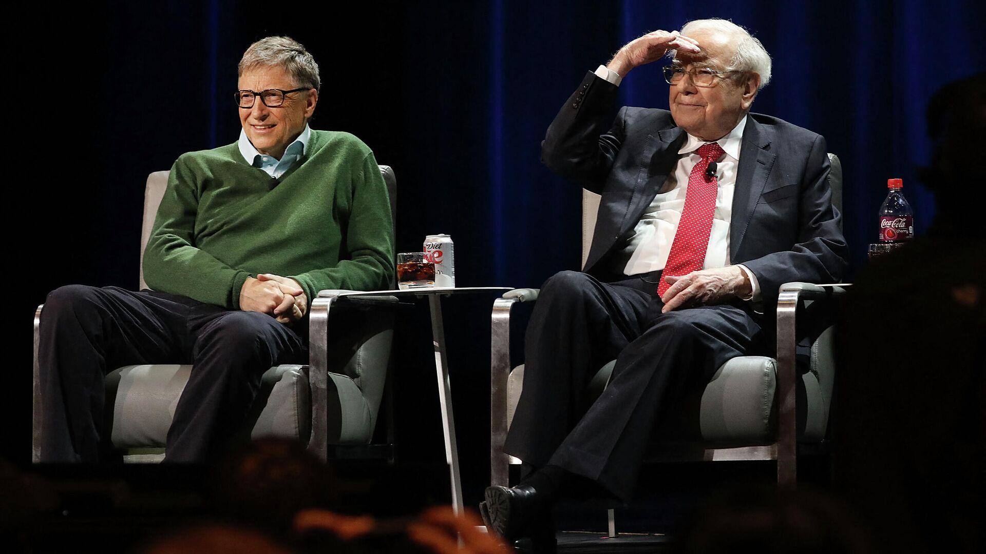 Bill Gates und Warren Buffett (Archivbild) - SNA, 1920, 04.06.2021