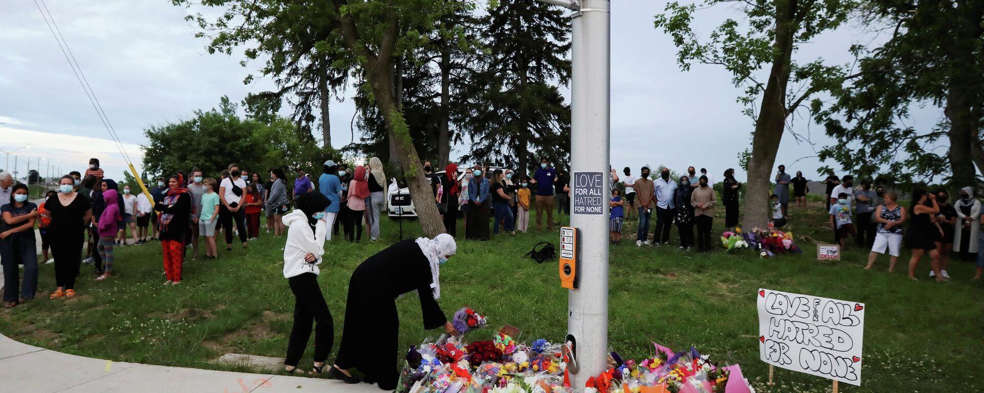 Gedenkstätte für Opfer eines rassistischen Angriffs in Ontario, Kanada - SNA, 1920, 08.06.2021