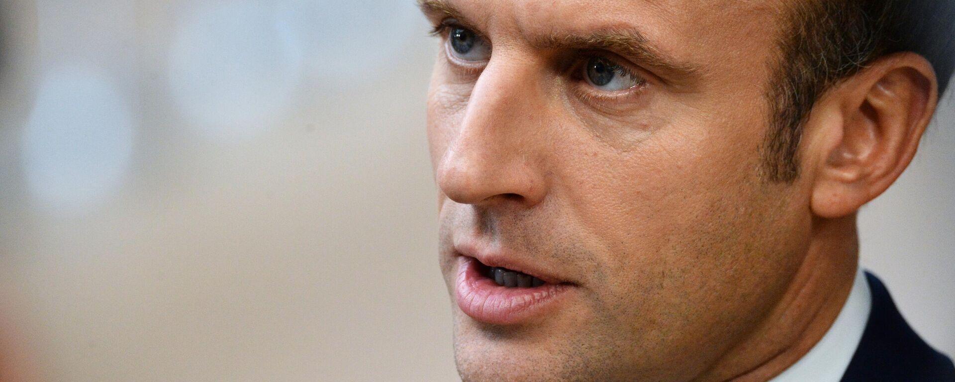 Frankreichs Präsident Emmanuel Macron  - SNA, 1920, 21.09.2021