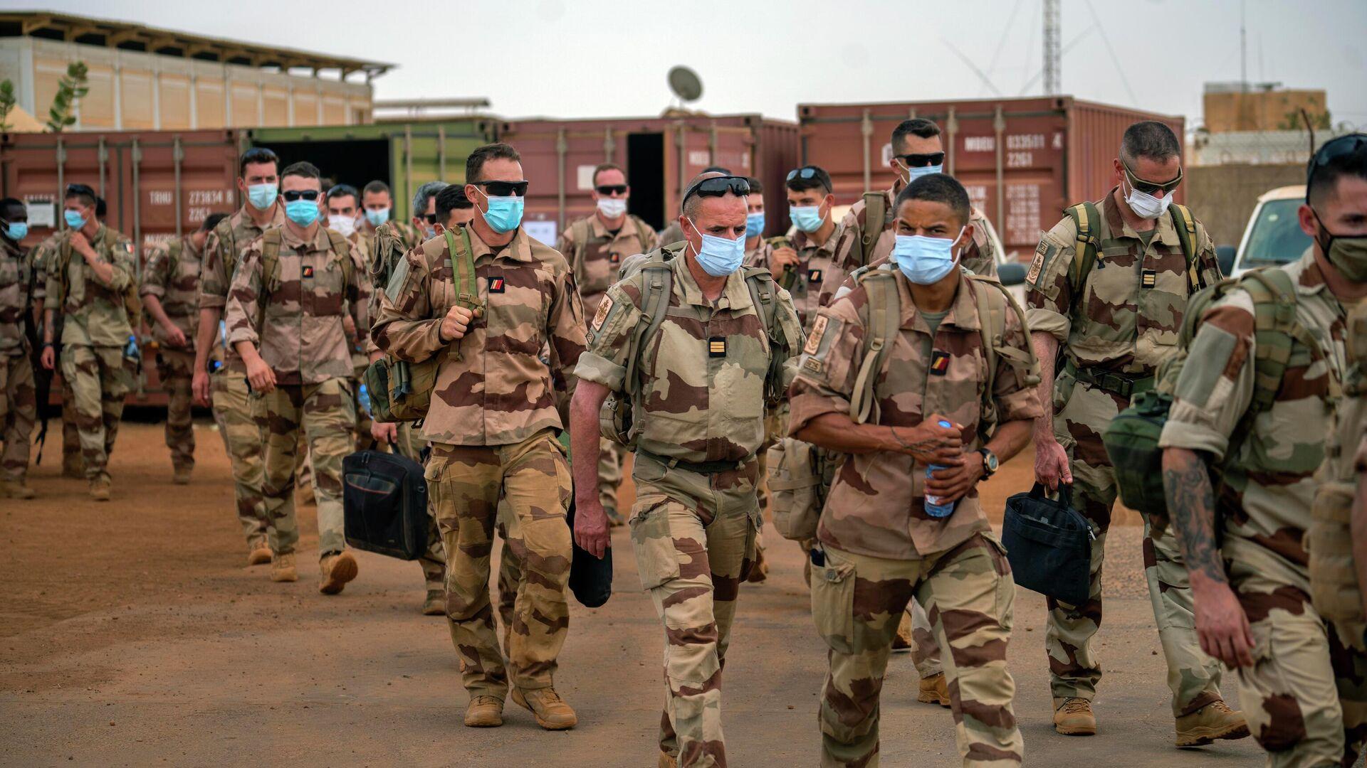 Französische Soldaten, Teilnehmer an der Operation Barkhane gegen die Terroristen. Militärstützpunkt Gao, Mali, 9. Juni 2021 - SNA, 1920, 10.06.2021