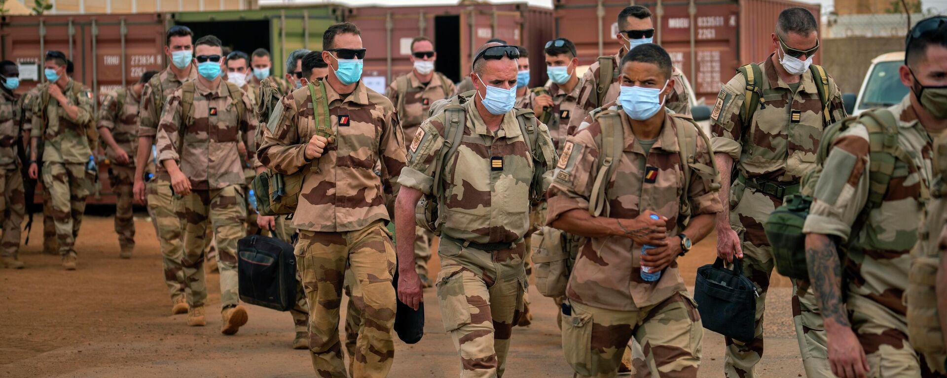 Französische Soldaten, Teilnehmer an der Operation Barkhane gegen die Terroristen. Militärstützpunkt Gao, Mali, 9. Juni 2021 - SNA, 1920, 09.07.2021