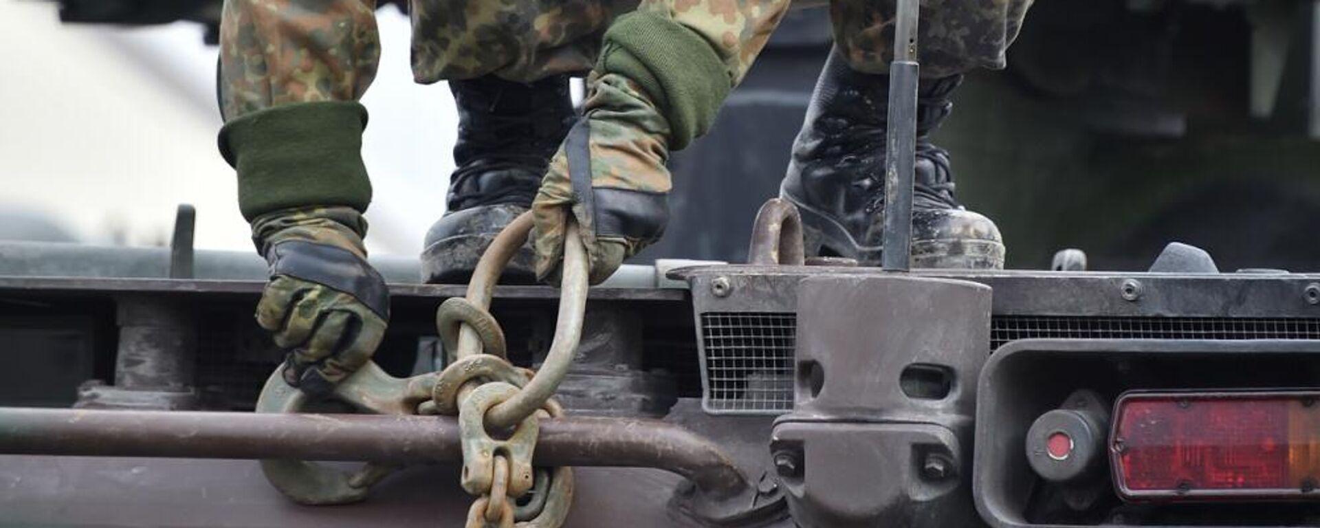 """Bundeswehr-Soldat beim Nato-Einsatz """"Enhanced Forward Presence"""" (Archiv) - SNA, 1920, 05.10.2021"""