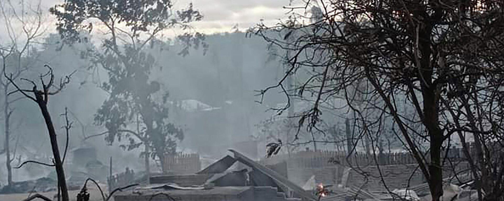 Soldaten in Myanmar brennen das Dorf Kin Ma in der Region Magway nieder. 16. Juni 2021 - SNA, 1920, 16.06.2021