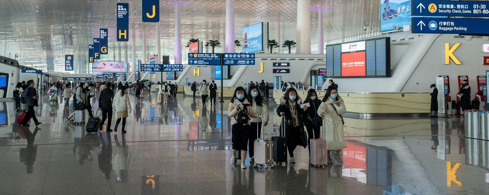 Flughafen in Wuhan während der Pandemie  - SNA, 1920, 20.06.2021