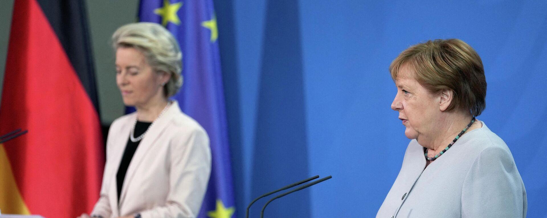 Bundeskanlerin Angela Merkel empfängt die EU-Kommissionschefin Ursula von der Leyen (beide CDU) am Dienstag in Berlin.  - SNA, 1920, 22.06.2021