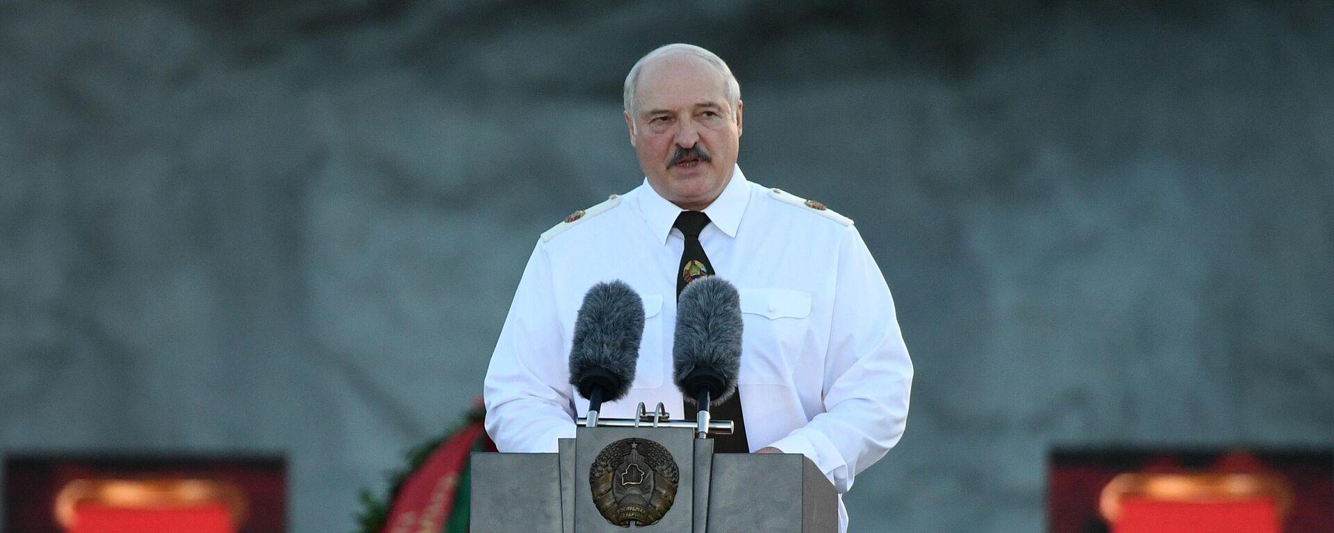 Alexander Lukaschenko in Brest vor einem Konzert anlässlich des 80. Jahrestages des Überfalls von Hitler-Deutschland auf die Sowjetunion  - SNA, 1920, 02.07.2021
