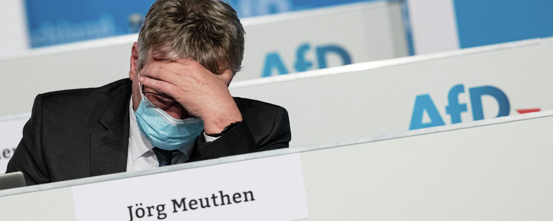 Jörg Meuthen nimmt am Parteitag der AfD in Dresden am 11. April 2021 teil. - SNA, 1920, 24.06.2021