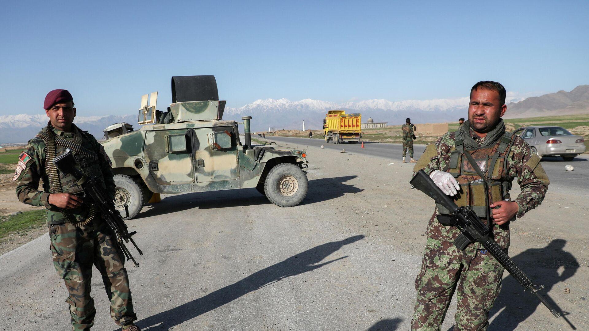 Afghanische Verteidigungskräfte am ehemaligen US-Stützpunkt Bagram - SNA, 1920, 02.07.2021