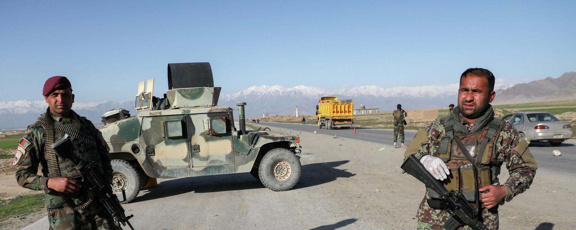 Afghanische Verteidigungskräfte am ehemaligen US-Stützpunkt Bagram - SNA, 1920, 05.07.2021