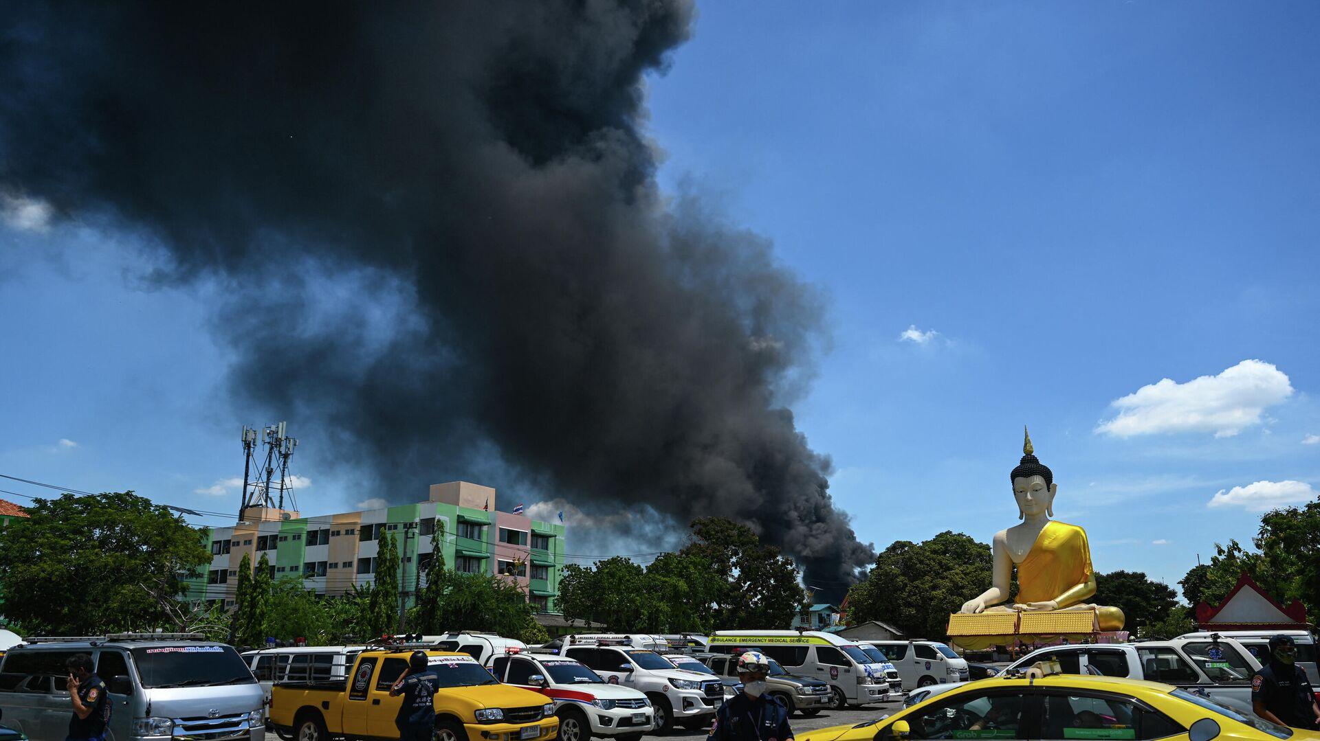 Explosion im Chemiewerk in der Nähe von Bangkok  - SNA, 1920, 05.07.2021