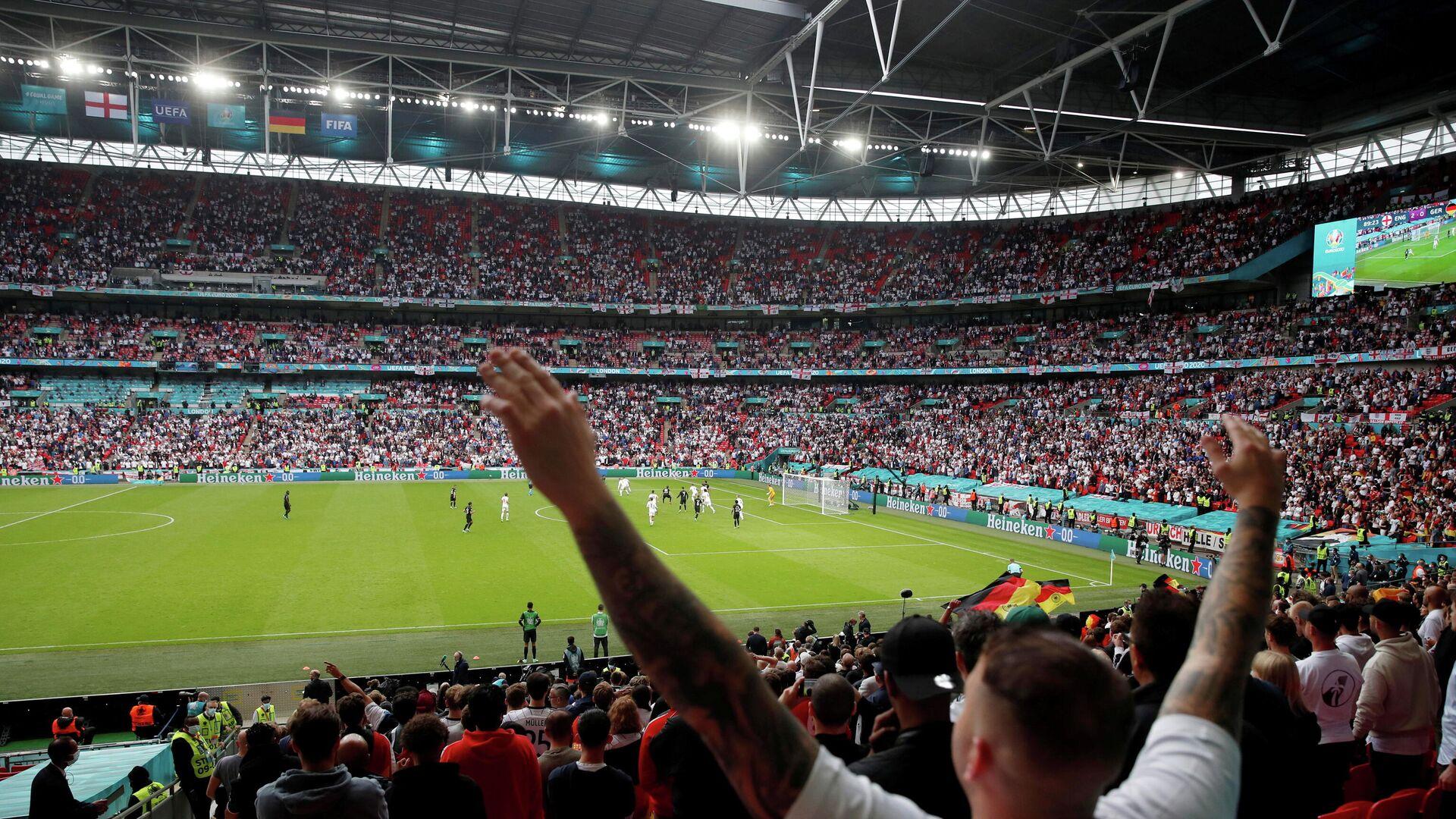 Fans von England auf dem Wembley-Stadion - SNA, 1920, 06.07.2021