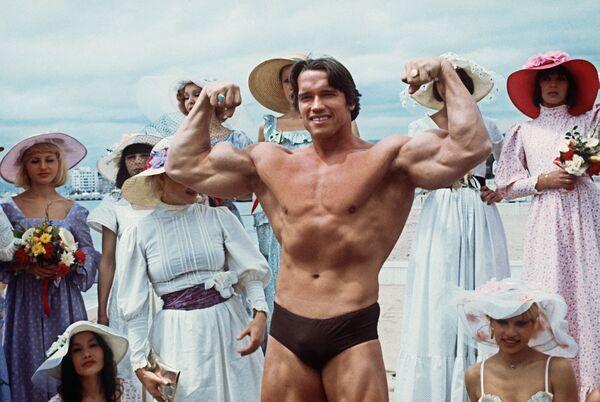 Arnold Schwarzenegger bei den 30. Filmfestspielen von Cannes, 1977. - SNA