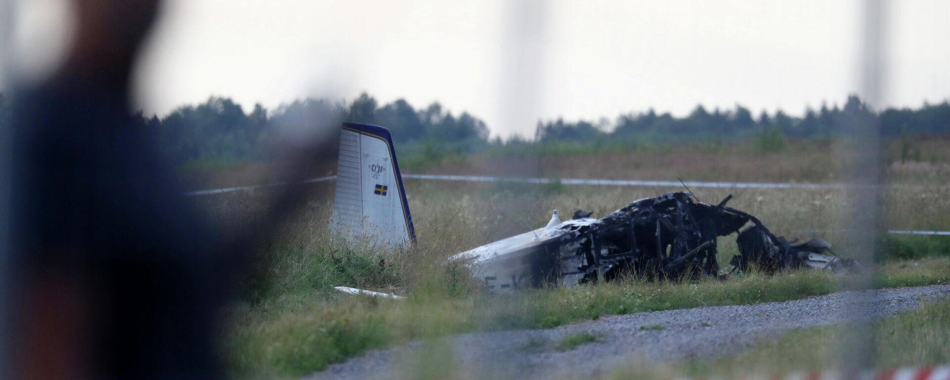 Flugzeugabsturz in Schweden - SNA, 1920, 09.07.2021