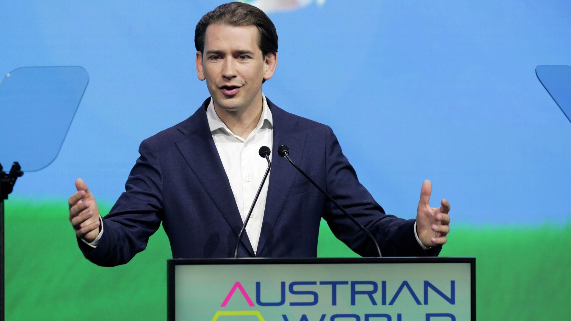 Kanzler Kurz spricht auf einem Gipfeltreffen Austrian World Summit in Wien am 1. Juli 2021 - SNA, 1920, 09.07.2021