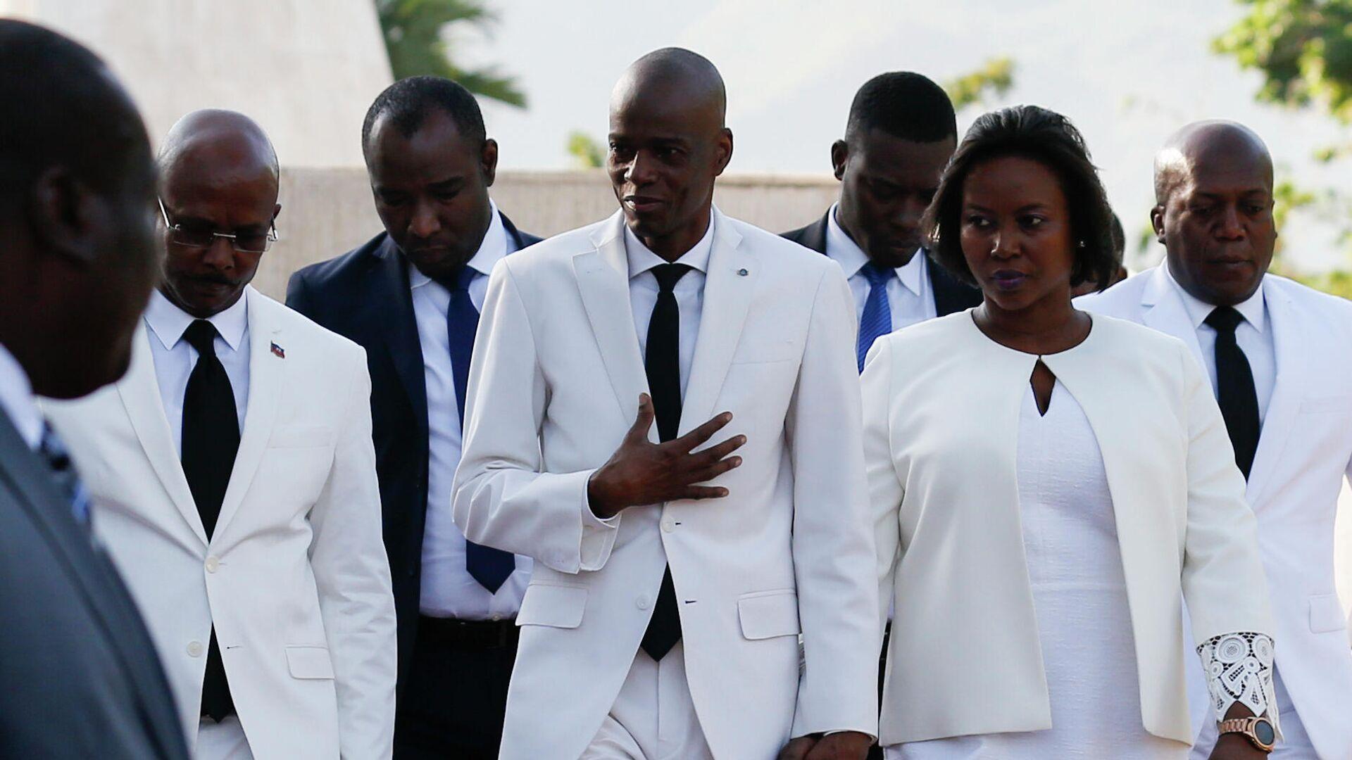 Der haitianische Präsident Jovenel Moïse und seine Frau Martine (Archivfoto) - SNA, 1920, 10.07.2021