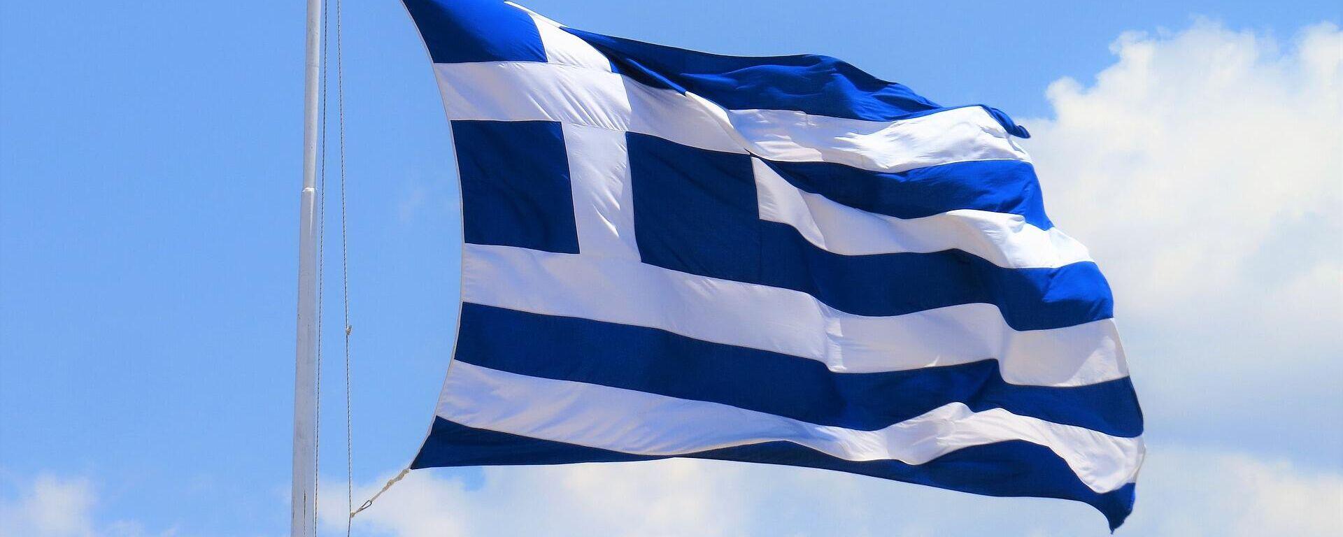 Eine  Flagge Griechenlands (Symbolbild) - SNA, 1920, 11.07.2021