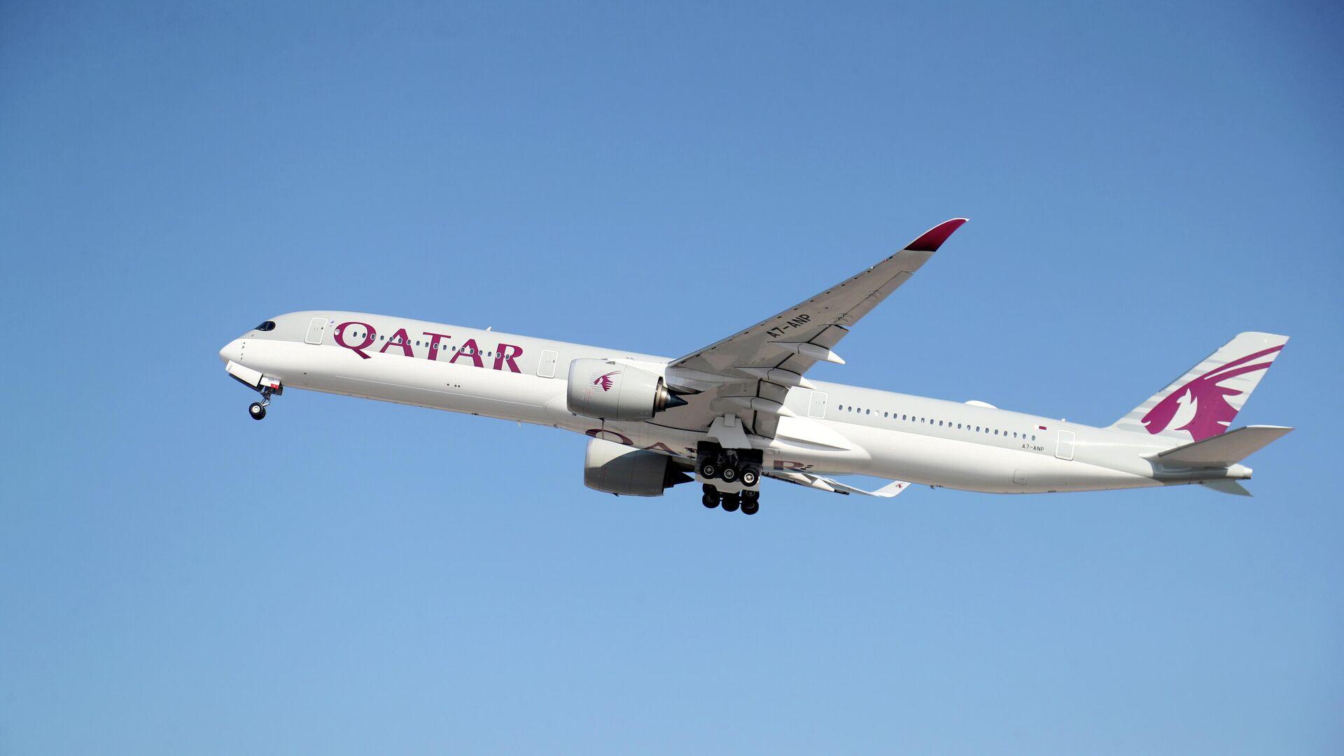 Ein Flugzeug von Qatar Airways. - SNA, 1920, 12.07.2021