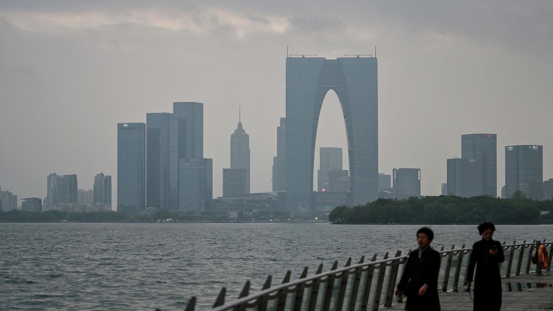 Die Ansicht der Stadt der Stadt Suzhou (ostchinesische Provinz Jiangsu) - SNA, 1920, 12.07.2021