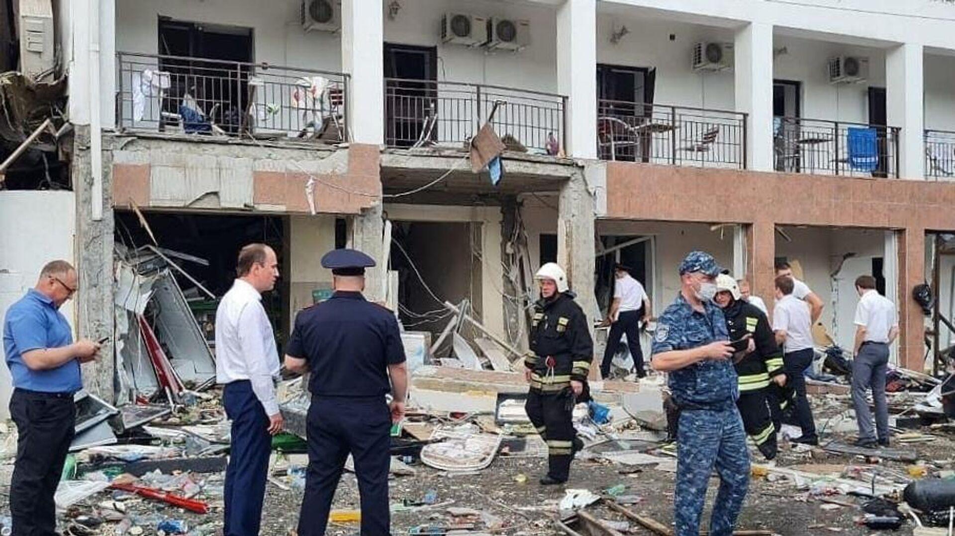 Folgen einer  GAsexplosion im Hotel Asarija in der südrussischen Stadt Gelendschik - SNA, 1920, 13.07.2021