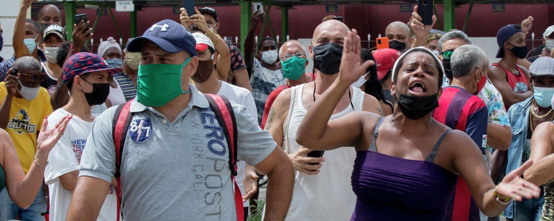 Antiregierungsproteste in Havanna am  11. Juli 2021 - SNA, 1920, 14.07.2021