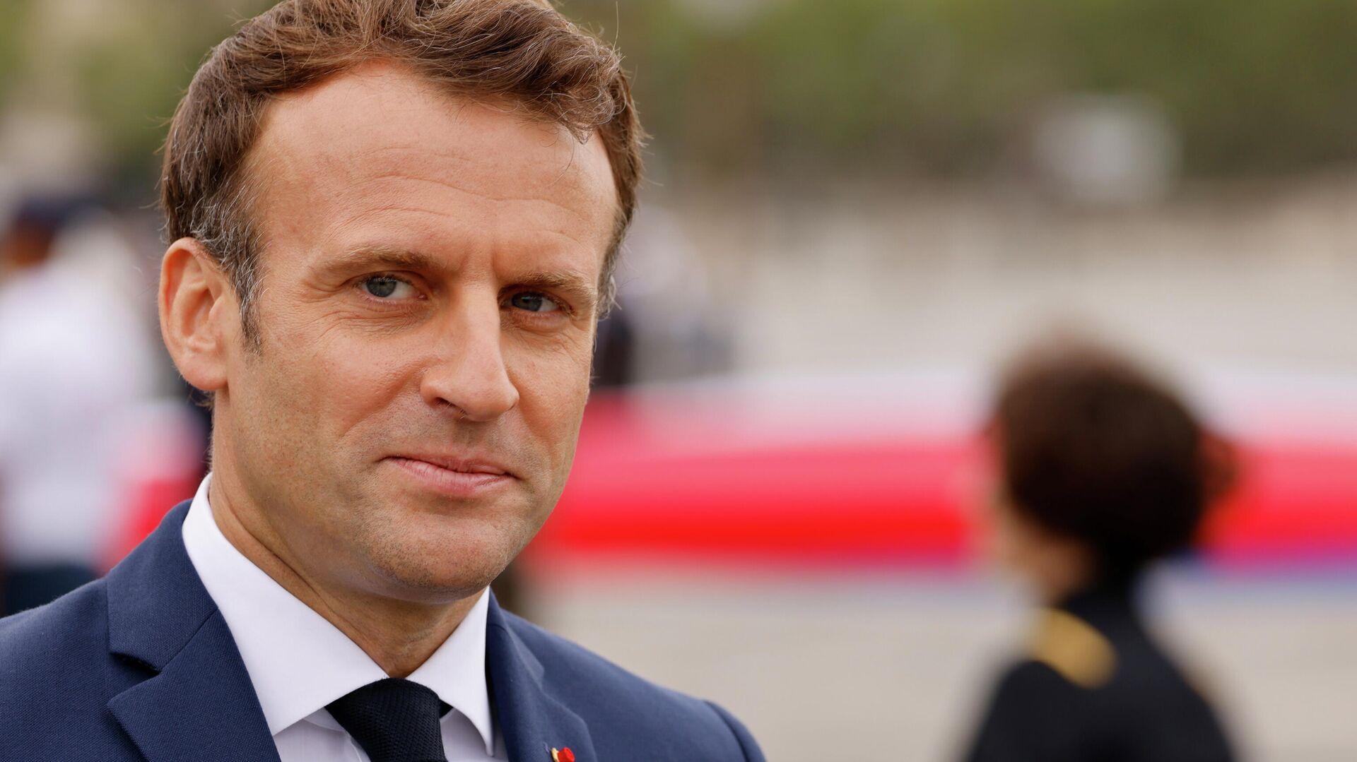 Frankreichs Präsident Emmanuel Macron - SNA, 1920, 25.07.2021