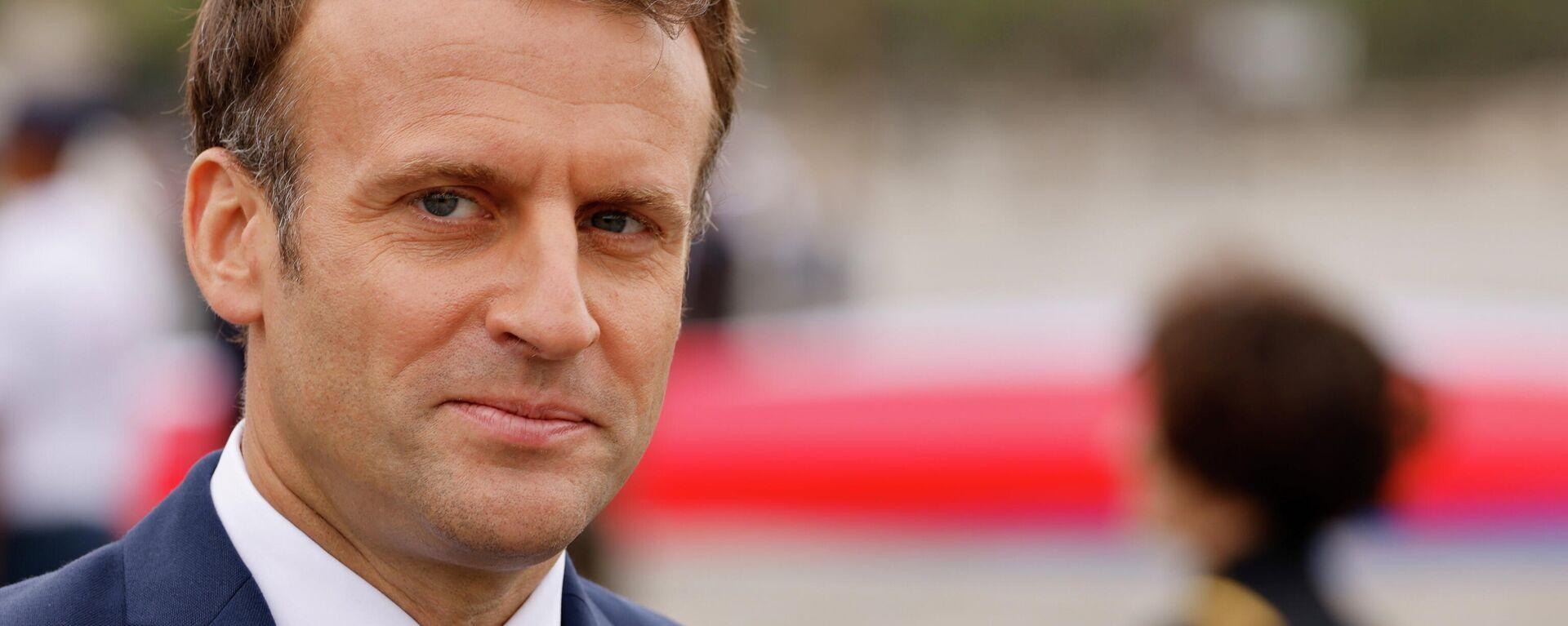 Frankreichs Präsident Emmanuel Macron - SNA, 1920, 14.07.2021