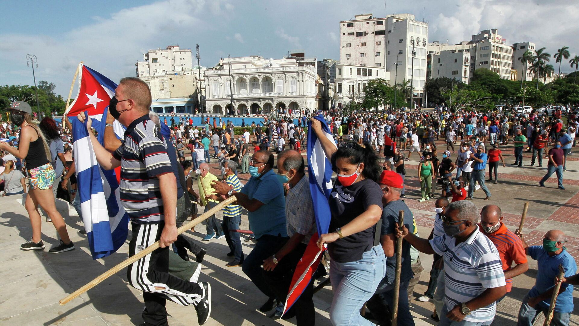 Regierungsanhänger gehen in Havanna auf die Straße - SNA, 1920, 15.07.2021