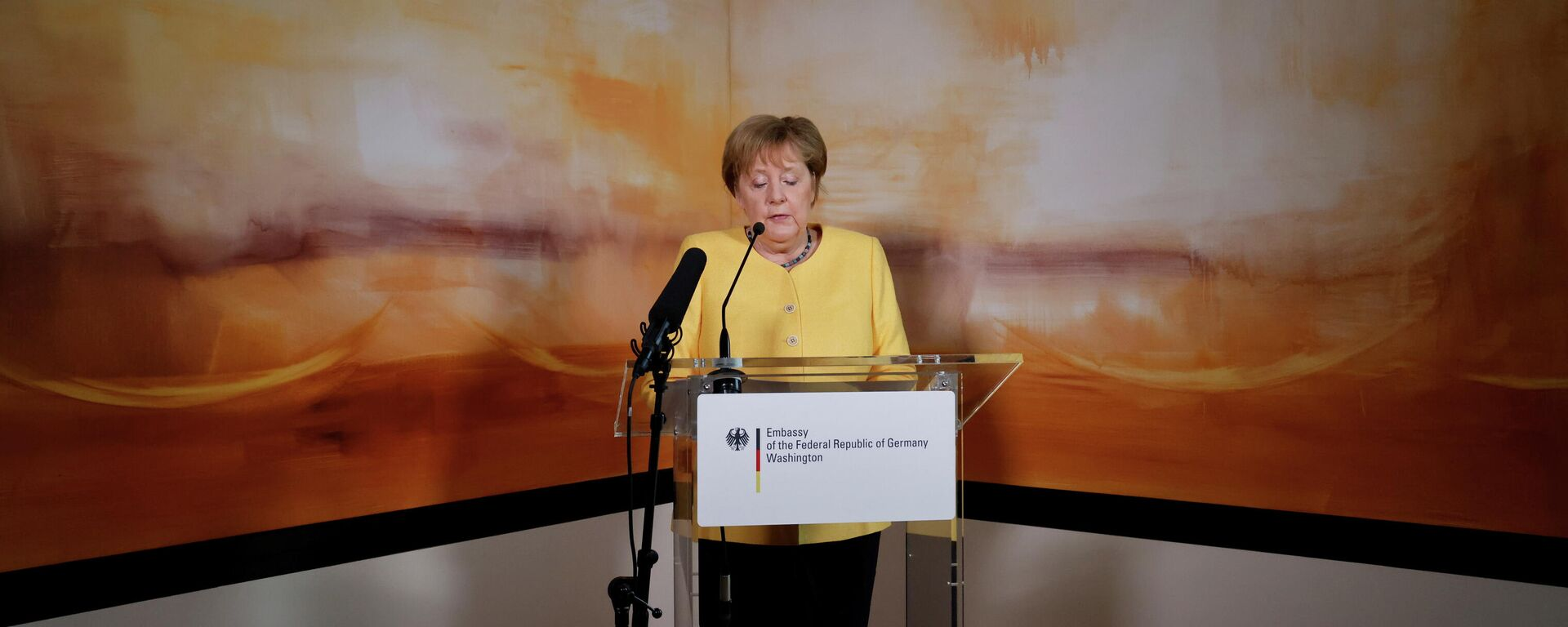 Bundeskanzlerin Angela Merkel hält eine Rede in Washington, 15.07.2021 - SNA, 1920, 15.07.2021