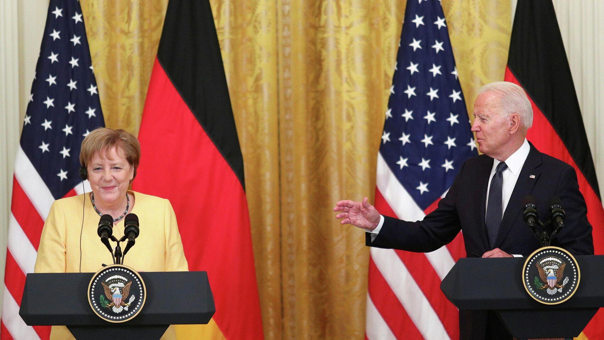 Treffen von Angela Merkel und Joe Biden in Washington  - SNA, 1920, 16.07.2021