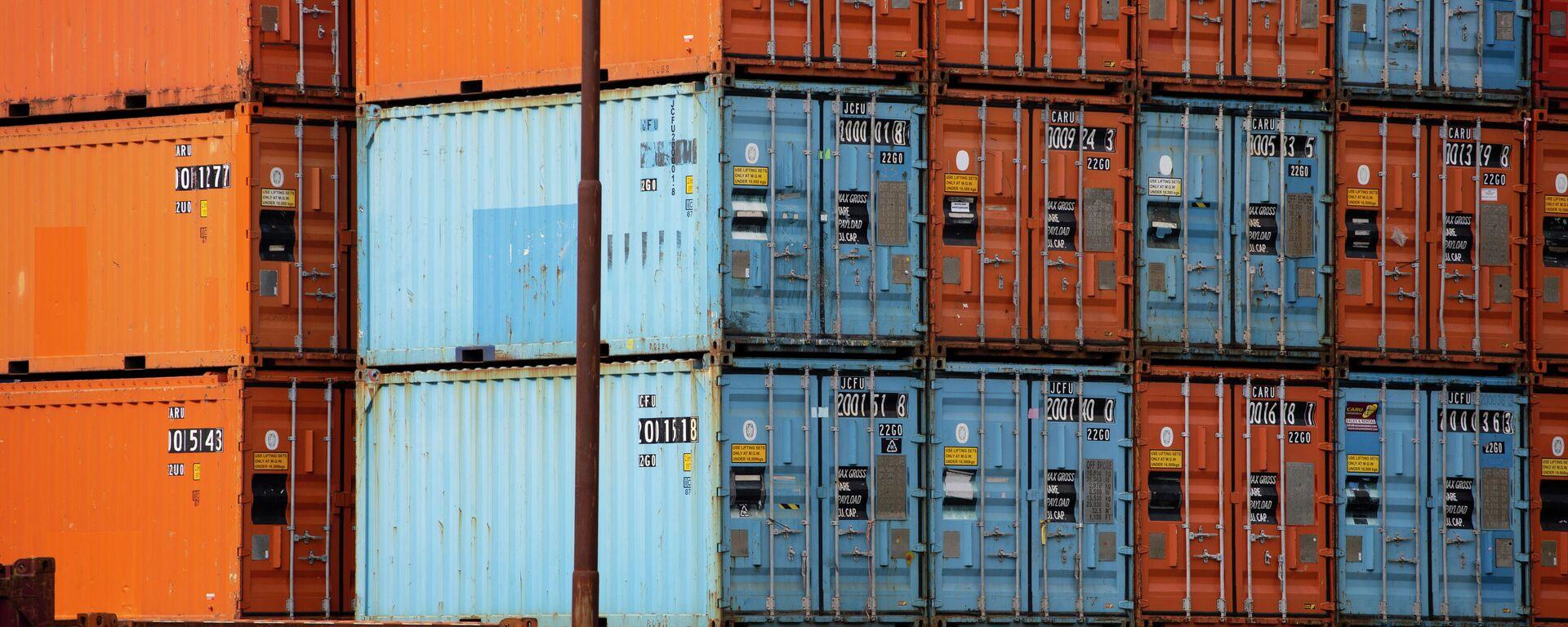 Container im Hafen von Rotterdam (Symbolbild) - SNA, 1920, 16.07.2021