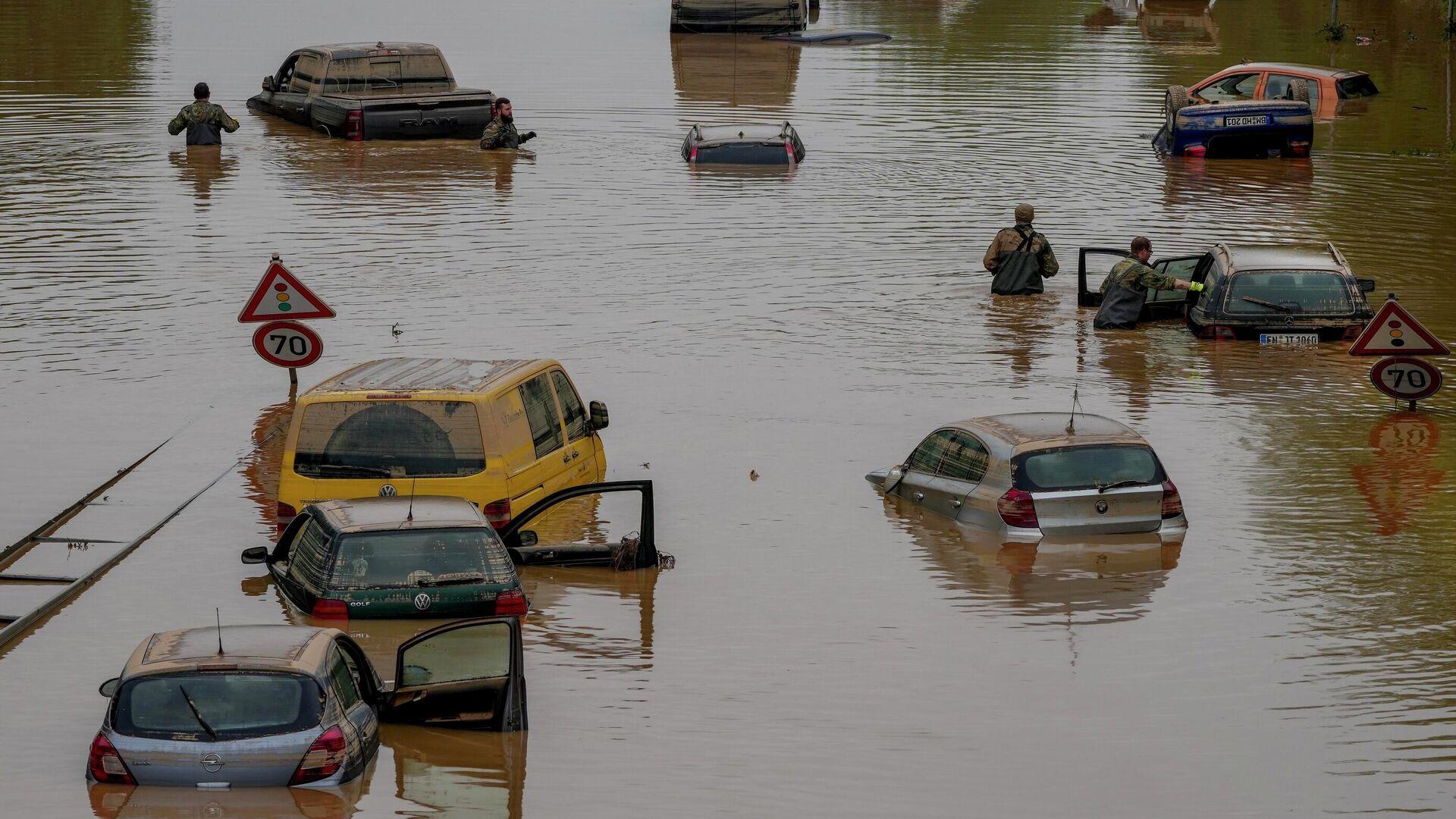 Folgen der Überschwemmung in Erftstadt - SNA, 1920, 05.10.2021