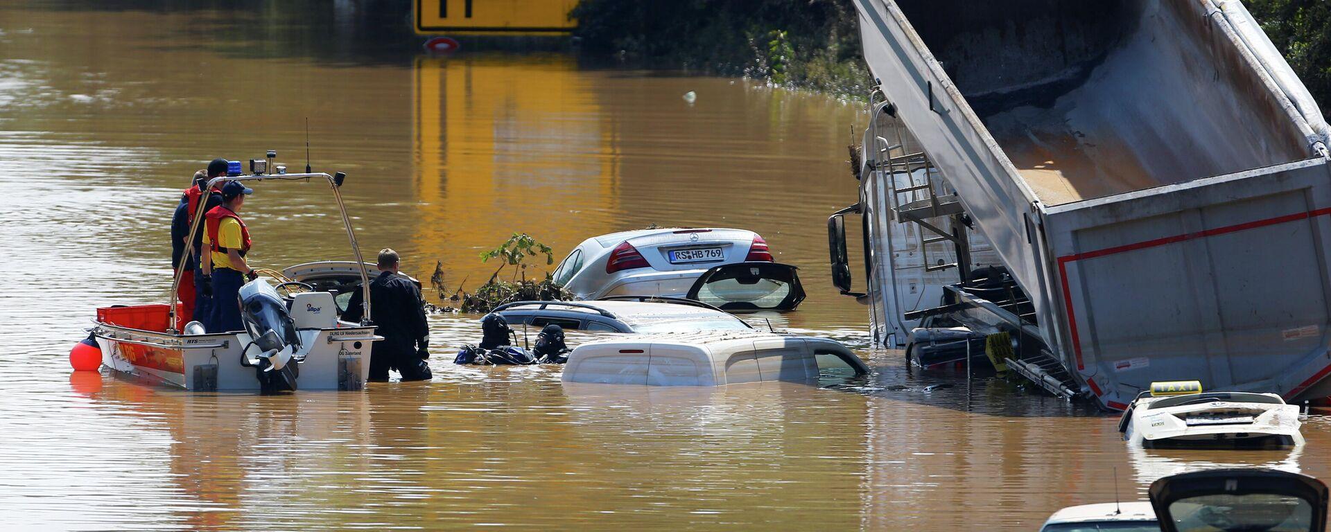 Nach der Überschwemmung in NRW, Hochwasser in Erftstadt-Blessem.  - SNA, 1920, 15.07.2021