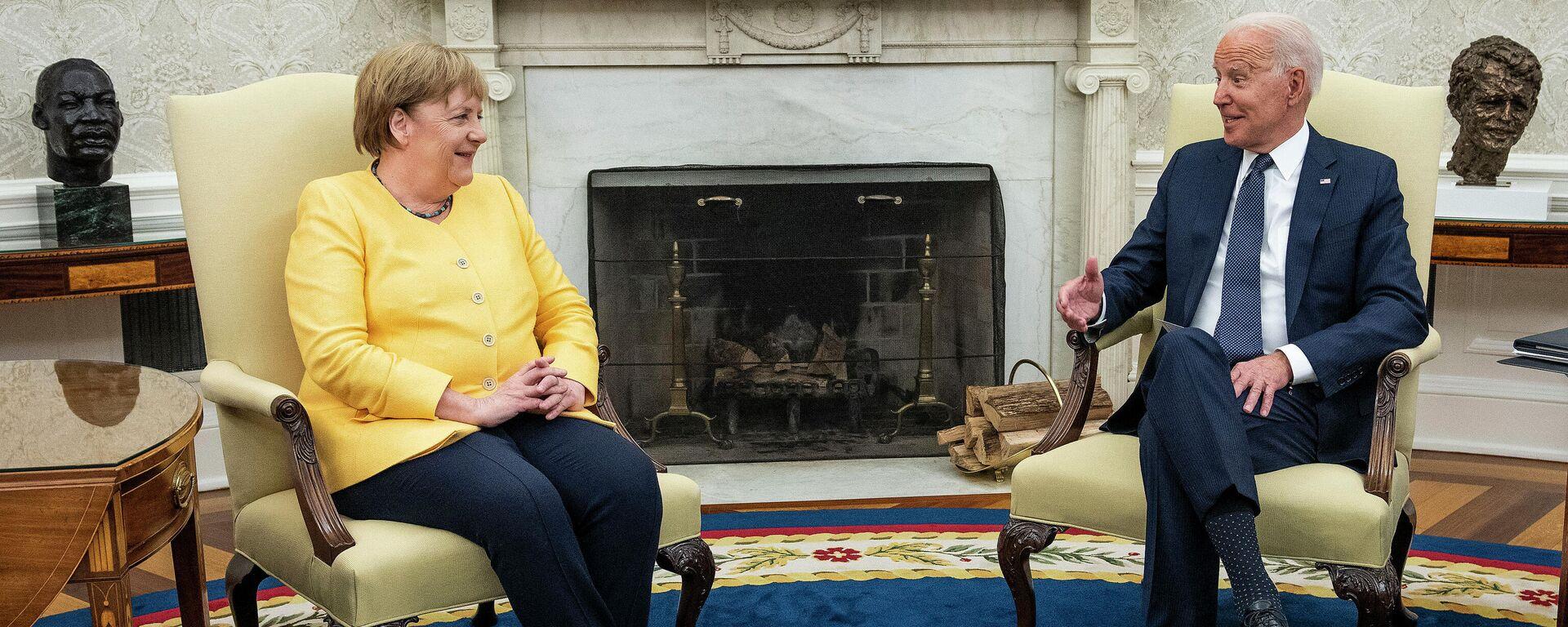 Verhandlungen zwischen Bundeskanzlerin Angela Merkel und US-Präsident Joe Biden im Weißen Haus. Washington, 15. Juli 2021 - SNA, 1920, 20.07.2021