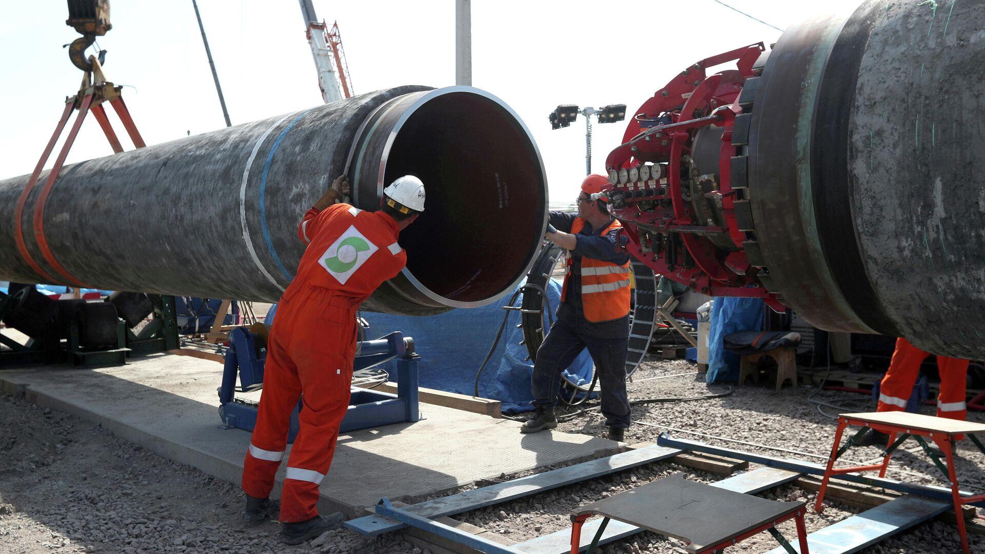 Beim Bau der Ostsee-Gaspipeline Nord Stream 2 (Archiv) - SNA, 1920, 03.08.2021
