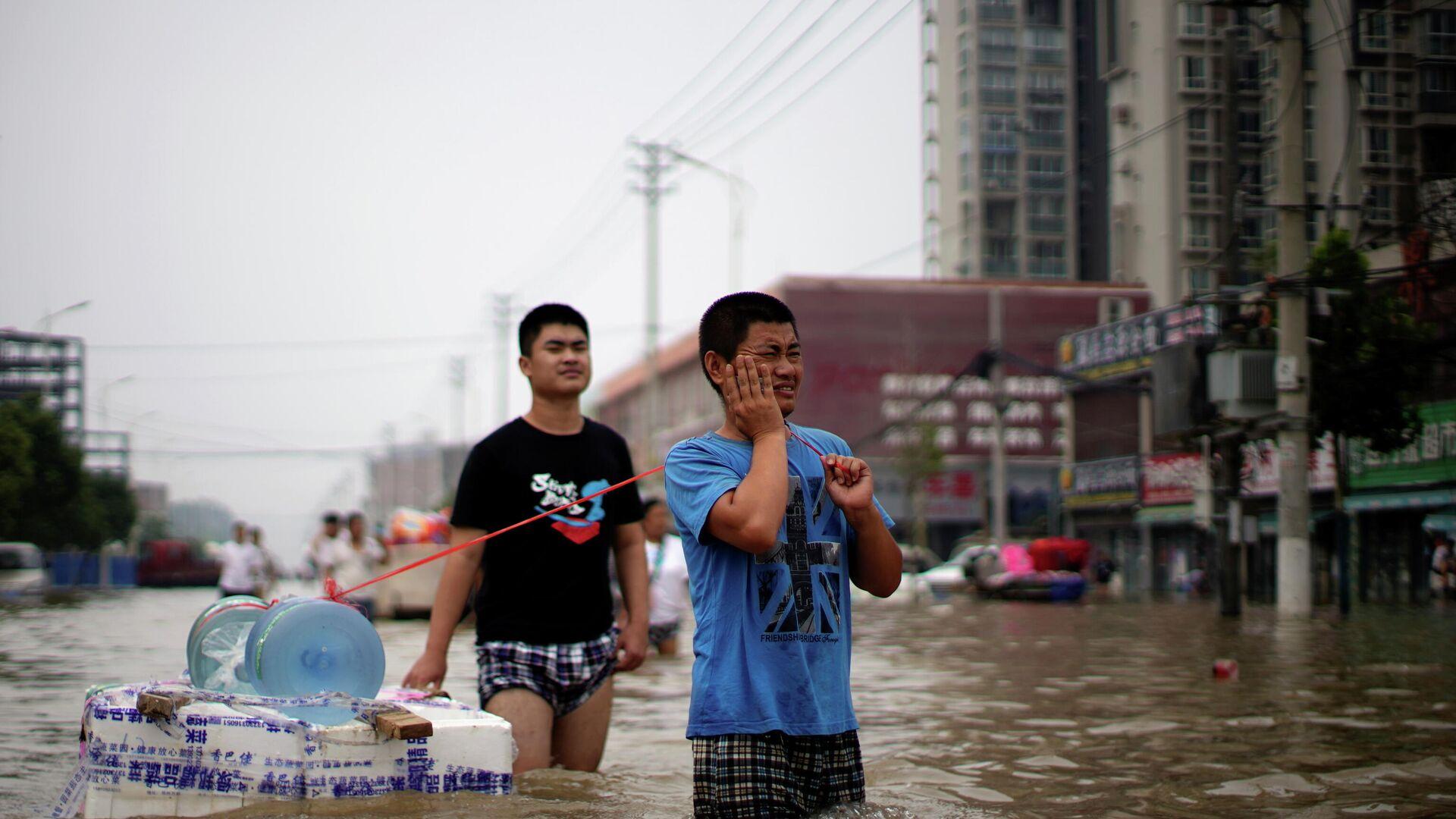 Überschwemmung in China  - SNA, 1920, 23.07.2021
