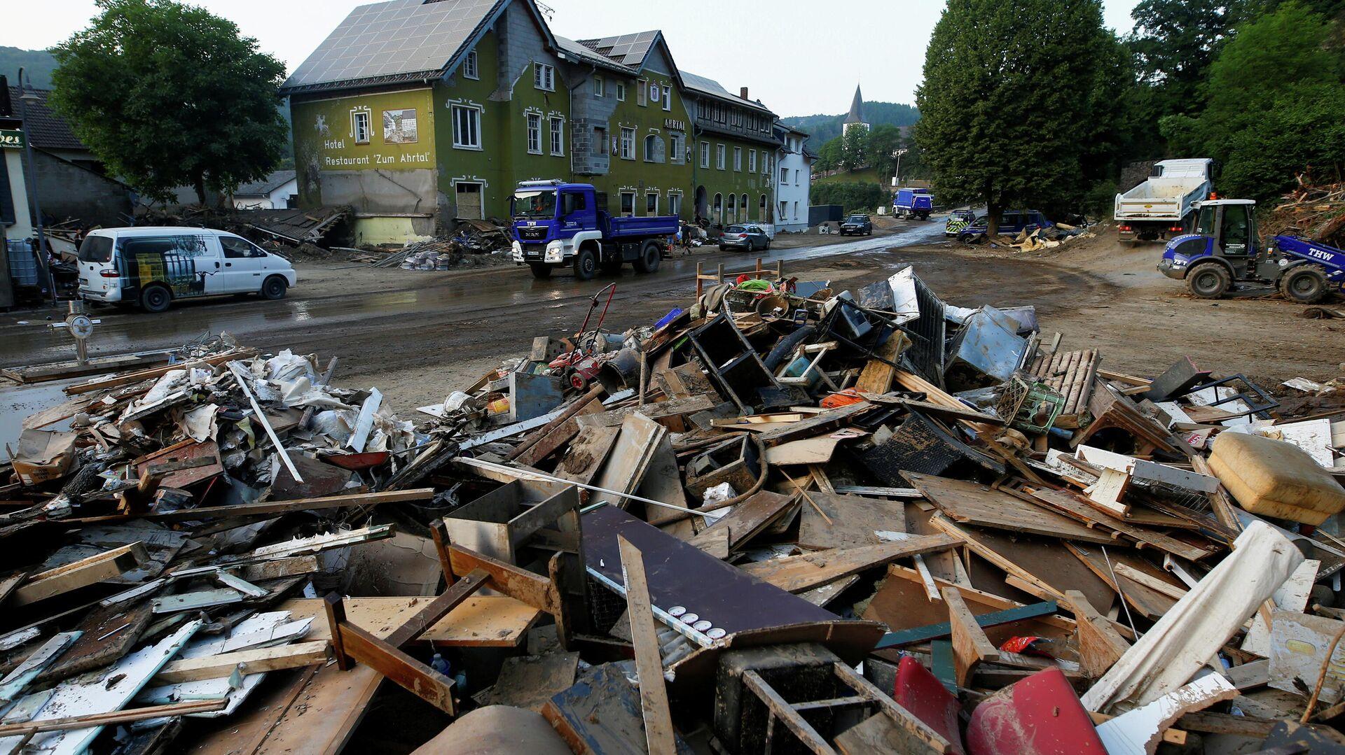 Folgen einer Flutkatastrophe in der Gemeinde Schuld, Landkreis Ahrweiler, Rheinland-Pfalz. 20. Juli 2021 - SNA, 1920, 23.07.2021