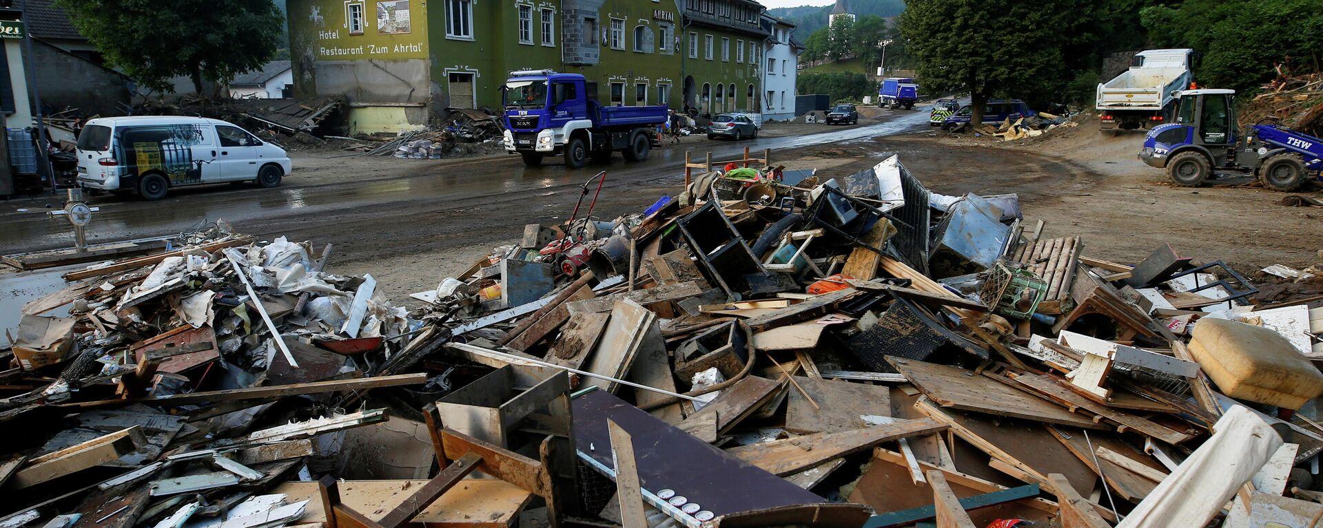 Folgen einer Flutkatastrophe in der Gemeinde Schuld, Landkreis Ahrweiler, Rheinland-Pfalz. 20. Juli 2021 - SNA, 1920, 17.08.2021